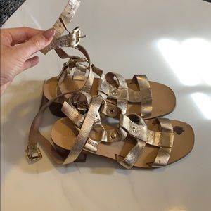 Top Shop gold strapped sandals